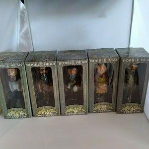 "Duck Dynasty 5 Bobble Head Lot 6"" tall new in box"